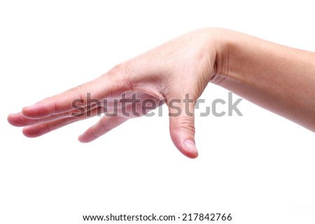 hand keep sign isolated on white background.