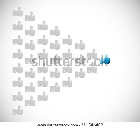 hand leader illustration design over a white background - stock photo