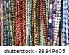 Hand made beads necklace - stock photo