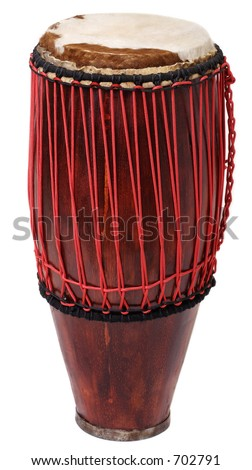 Hand made-drum I - stock photo