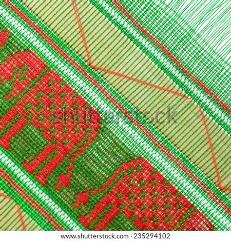Hand made fabric background - stock photo