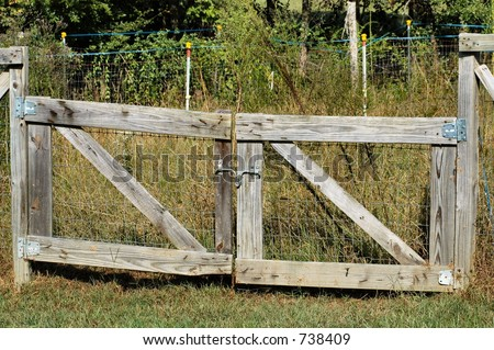 farm fence gate. Hand Made Farm Fence Gate