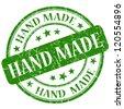 Hand made stamp - stock photo