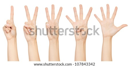 Hand make number collection - stock photo