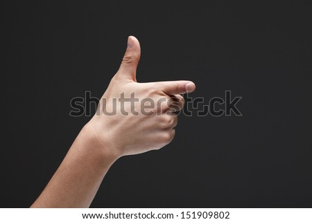 hand making a shooting gesture