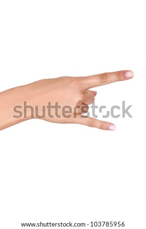 Hand making rock gesture - stock photo