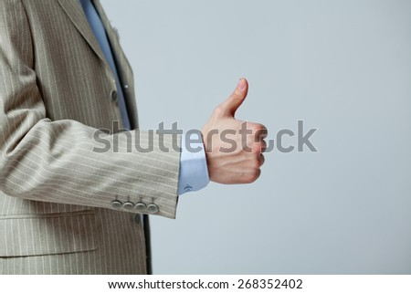hand man in a suit showing gesture class - stock photo