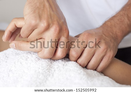 Hand massage  - stock photo