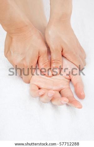 Hand Massage - stock photo