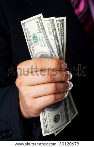 hand, money dollars usa - stock photo