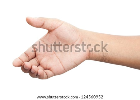 Hand of a man isolated on white background