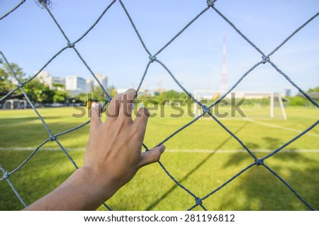Hand of park outdoor - stock photo
