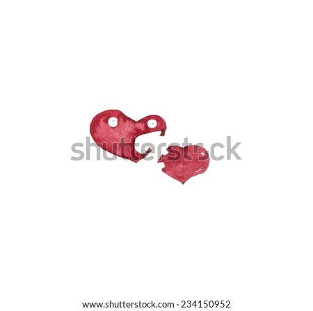 Hand paint watercolor heart pattern. (Can be used as texture for cards, invitations, DIY projects, web sites or for any other design)  - stock photo