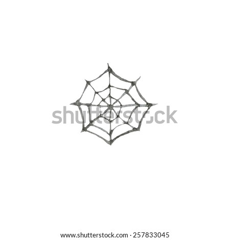 hand paint watercolor spider web pattern stock illustration