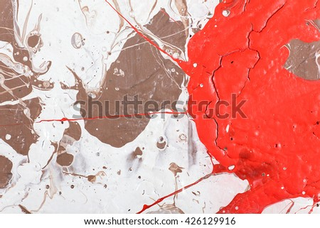 Hand painted abstract grunge background.  Fragment of artwork. Colorful texture. acrylic painting on wood