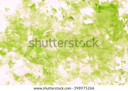 Hand painted acrylic background. Abstract texture. Marble texture. Green texture.  - stock photo