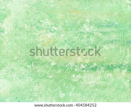 Hand painted acrylic background. Abstract texture. Marble texture. Green texture. Canvas.  - stock photo