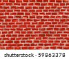 hand painted brick wall to use as background - illustration - stock photo