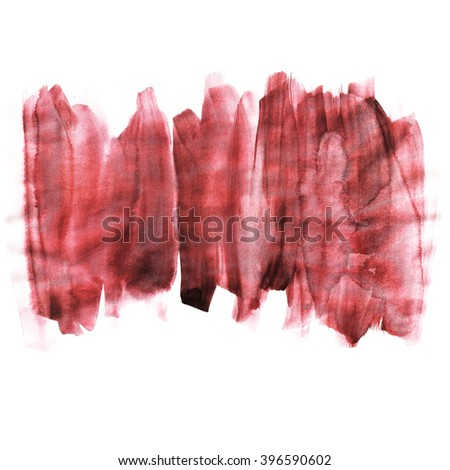 Hand painted watercolor background. Watercolor wash.red, black
