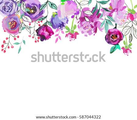 Floral Spray Paint Purple