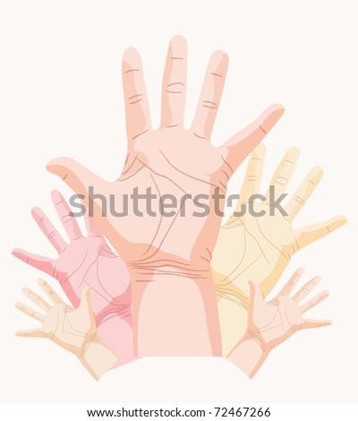hand, palm - stock photo
