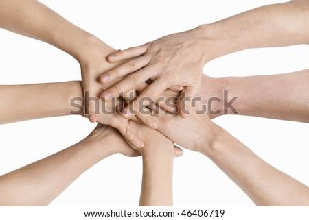 Hand Piled - stock photo