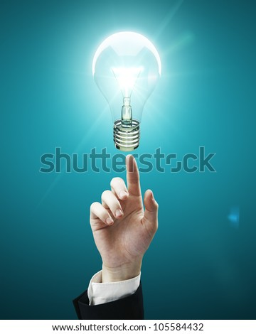hand points to light bulb