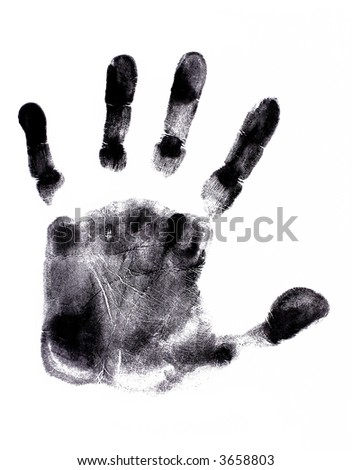Hand Print (very detailed) - stock photo