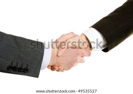 Hand shake of two businessmen