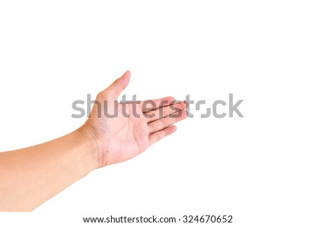 hand shaking isolated