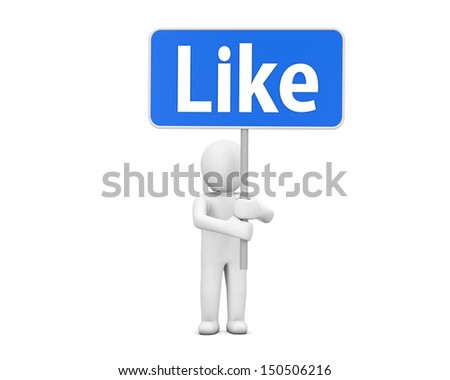 Hand Shaped mouse Cursor thumb up like man share good social media share 3d symbol icon button - stock photo