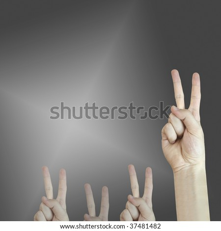 Hand sign. Answer concept. Good quality.