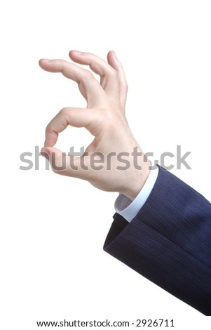 Hand sign - it is ok! - stock photo