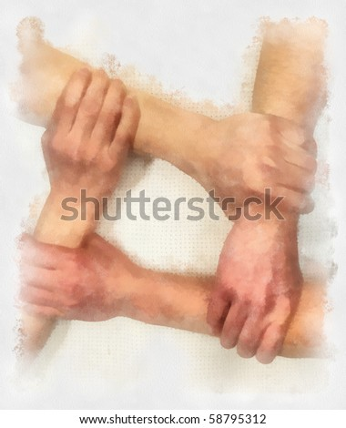 Hand sketch on watercolor paper - stock photo