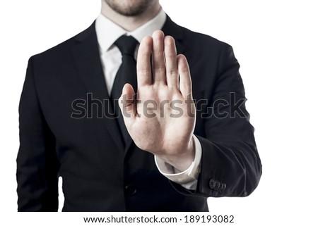 hand stop - stock photo