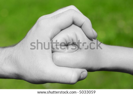 hand stops fist - stock photo