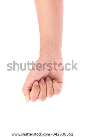 hand stranglehold sign isolated on white background