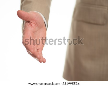 Hand stretched out - stock photo