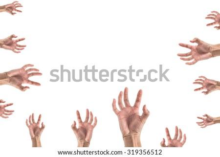 hand stretching something , look like zombie set - stock photo