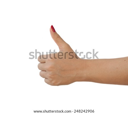 Hand symbol correct and engaging on a white background