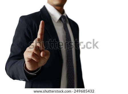 hand symbol pointing up touching  - stock photo