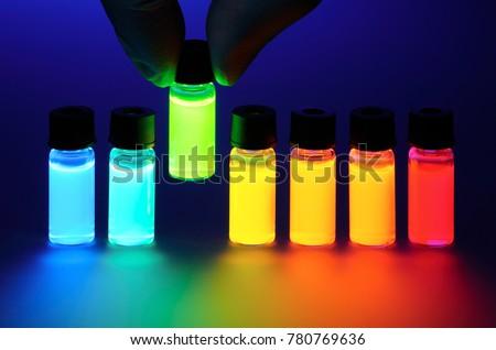 Hand Take Fluorescent Tube