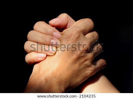 Hand Talk Series - Support (old and young hands)
