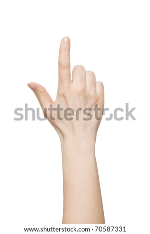 hand touching screen - stock photo