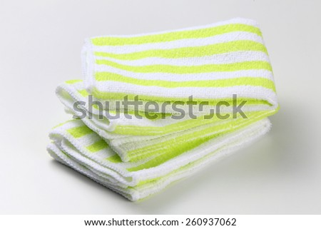 Hand towel on the white background - stock photo
