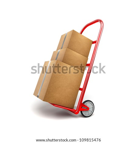 Hand Truck and Box