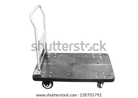 Hand truck isolated on white - stock photo