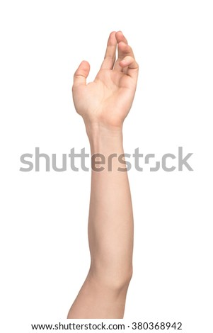 hand vote on isolated white background - stock photo