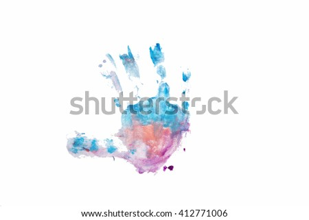 hand, watercolor element for design