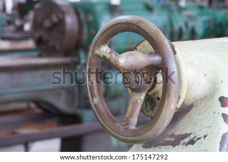Hand wheel of lathe machine